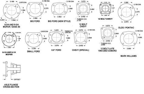 pattern seven exles hot rods early 12bolt axle splines the h a m b