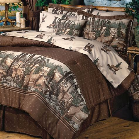 new country whitetails dreem deer print bedroom comforter