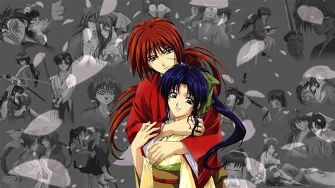 Rurouni Kenshin Grey kenshin and kaoru wallpaper by cassandra52182 on deviantart