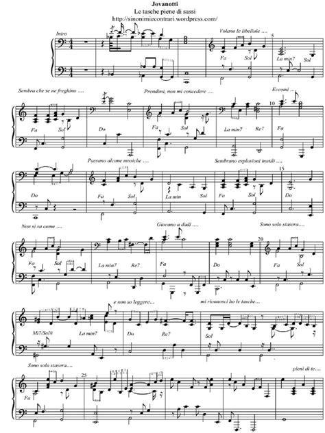 testo a te di jovanotti jovanotti le tasche piene di sassi spartito pianoforte