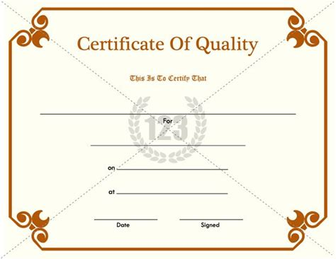 certificate of quality template certificate of quality pdf free 123certificate