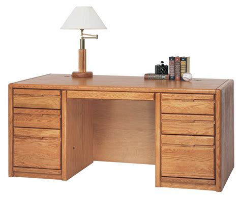Choose From Matching Pieces Furnish Your Entire Office Oak Office Desk