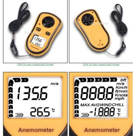 Stok Terbatas Digital Anemometer Thermometer Alat Ukur Kecepatan anemometer wind speed meter ukur kecepatan angin d8908