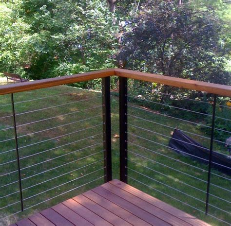 Stainless Steel Railing System Stainless Steel Cable Railing System Yard