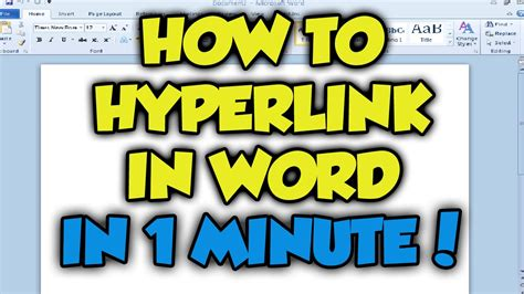 tutorial youtube word how to hyperlink in microsoft word 2016 complete