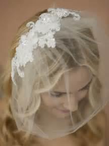 Handmade Birdcage Veil - lace applique handmade tulle birdcage blusher veil