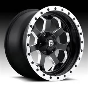 Truck Wheels Black With Fuel Savage D565 Matte Black Milled Custom Truck Wheels