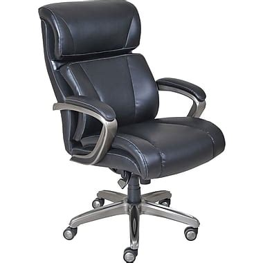 la z boy armchair la z boy nexus leather executive office chair fixed arms black 44782 staples 174