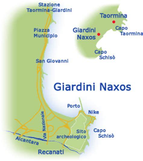 mappa giardini naxos giardini naxos informazioni monumenti hotel foto su