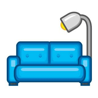 couch emoji couch and l emojidex custom emoji service and apps