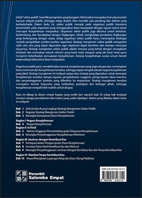 Buku Manajemen Keuangan Sektor Publik By Prof Drs M Suparmoko S E bukukita strategi manajemen sektor publik