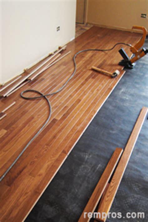Prefinished Hardwood Flooring Installation How To Install Prefinished Solid Hardwood Flooring Nail