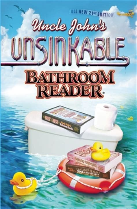 bathroom reader book uncle john s unsinkable bathroom reader by bathroom readers institute reviews