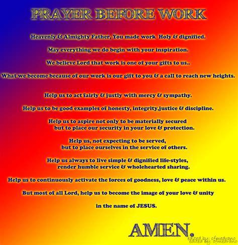 Work Pray spirituality in modern times prayer before work