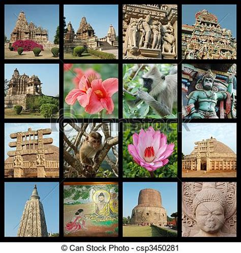 Stock Photography of Go India collage - background with ...