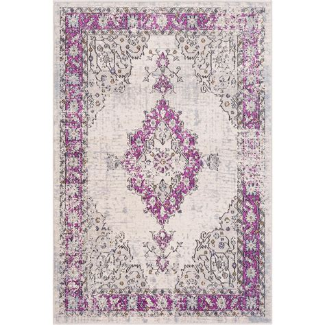 bright purple rug artistic weavers raphaelle bright purple 2 ft x 3 ft accent rug s00151068850 the home depot
