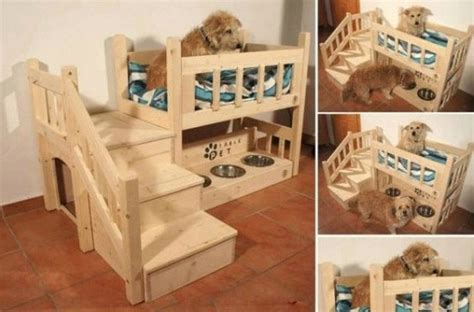 dog bunk bed wooden pallet dog bed plans pallet wood projects