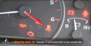 Fuel System Warning Light Toyota Hiace 70 Series Landcruiser Fuel Filter Light Reset Changing