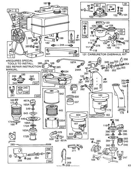 briggs and stratton fuel diagram briggs and stratton 081332 9436 01 parts diagram for