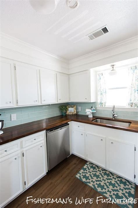 kitchen countertop makeover diy coastal kitchen makeover blue tiles cabinets and