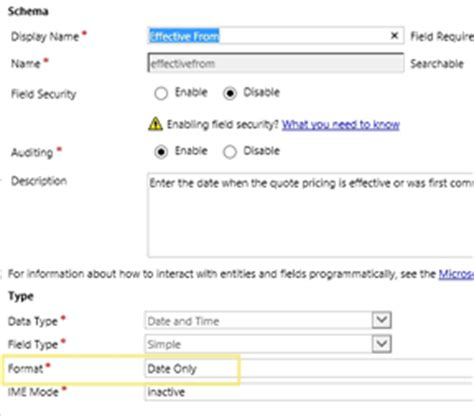 customising dates on default quote mail merge template