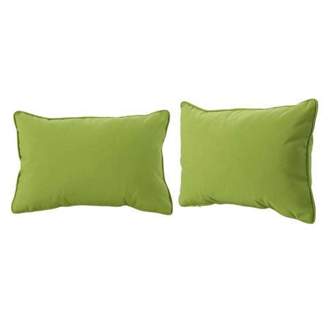 noble house amaris green lumbar outdoor throw pillow