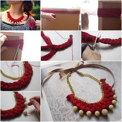do it yourself crafts step by step find craft ideas how to make braided gold pearl jewelry necklace step by