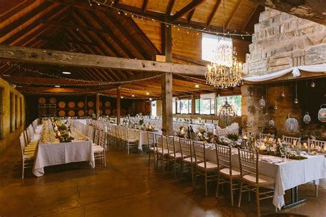 Peppers Creek Barrel Room wedding reception venue. Hunter