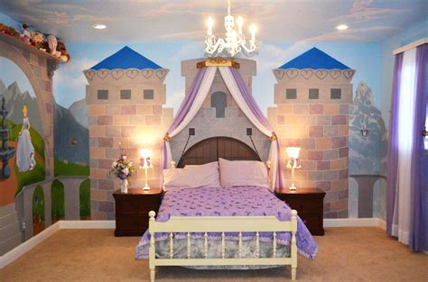 Disney Bedroom Ideas Princess Castle Room Princess Theme Bedroom With Mural