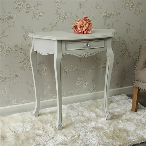 grey wooden half moon ornate console table shabby french chic vintage hallway ebay