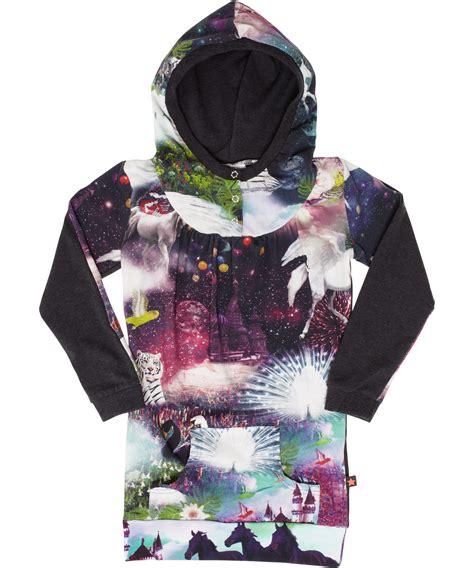 Printed Hoodie Dress molo fairytale printed hoodie dress cala