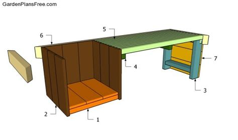 How To Build A Planter Bench by Planter Bench Plans Free Garden Plans How To Build