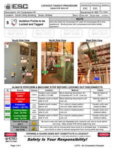 Lock Out Tag Out Procedures Template by Lockout Tagout Procedure Exles