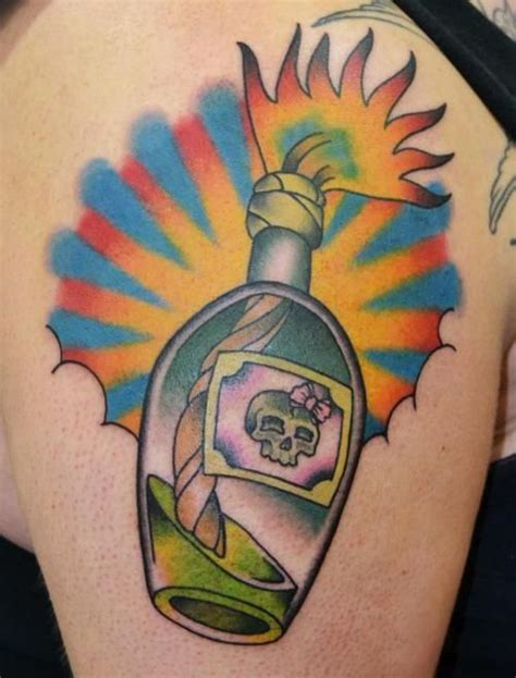 tattoo iron ink quebec molotov cocktail tattoo done by val mcbain at voodooo ink