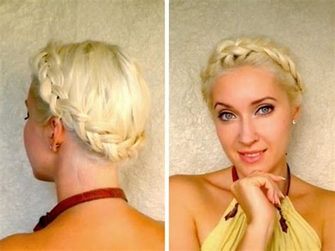 Add Milkmaid Braids To Your Bag Of Hair Tricks by Crown Braid Tutorial For Medium Hair Milkmaid
