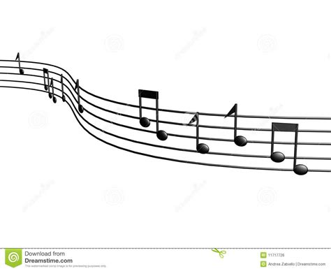3d music score notes stock illustration image of