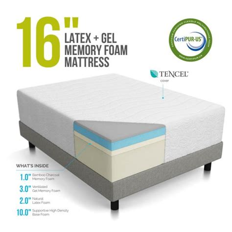 Best Memory Foam Mattress For Heavy by Lucid 16 Inch Plush Memory Foam And Mattress Review