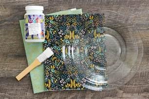 Decoupage Plates With Fabric - decoupage fabric glass plates
