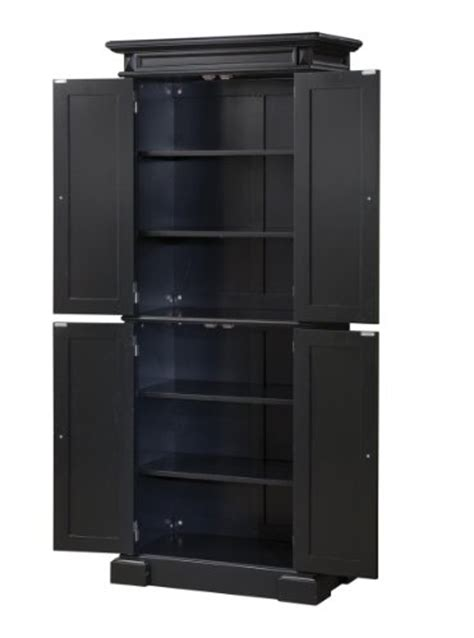 Black Kitchen Storage Cabinet by Home Styles 5004 694 Americana Pantry Storage Cabinet