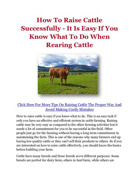do you know how easy it is to start your first herb garden how to raise cattle successfully it is easy if you know
