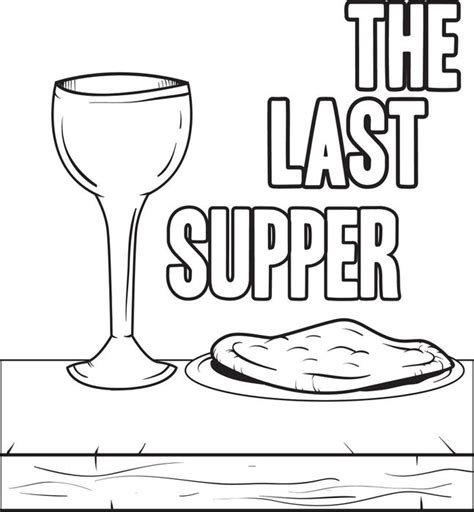 free coloring pages of lord s supper