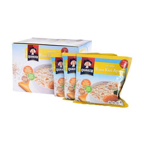 Quaker Oat Meal Soto Ayam Dan Kari Ayam jual quaker oatmeal rasa kari ayam cereal 28 g x 12