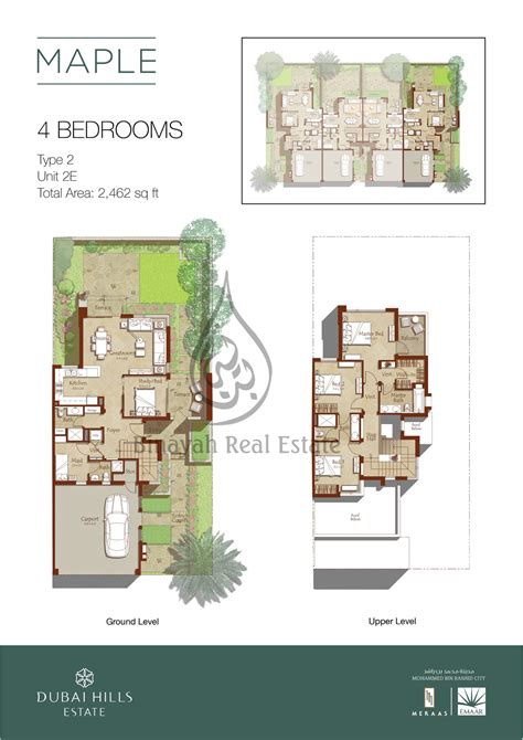 4 bedroom townhouse floor plans maple by emaar properties at dubai estate