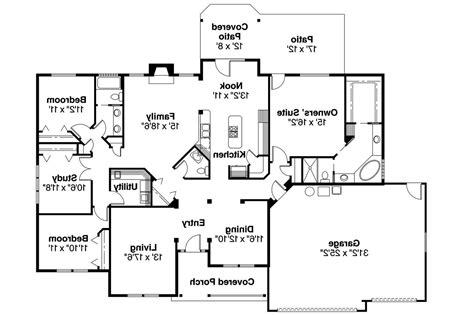 ranch house floor plan ranch house plans pleasanton 30 545 associated designs