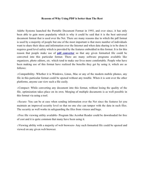 why epub format is better than pdf for ibooks reasons of why using pdf is better than the rest