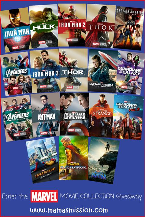 marvel film links enter to win the ultimate marvel movie collection giveaway