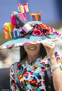 ascot themed events runners and riders in bright frocks and outrageous hats