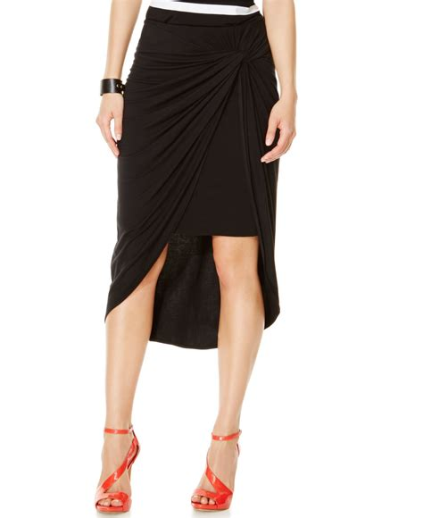 inc international concepts draped high low pencil skirt in