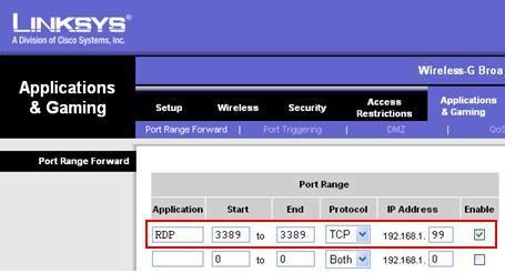 port of remote desktop remote desktop connection from