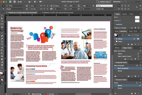 Adobe Indesign Template Two Sided Business Card by Adobe Indesign Cc 2018 Overview
